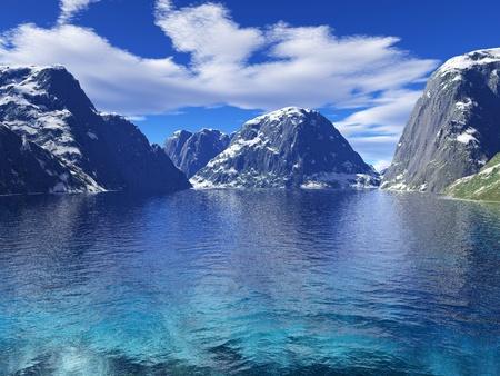 schöne Winterlandschaft Standard-Bild