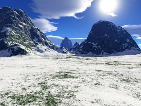 beautiful winter landscape Stock Photo - 8576762