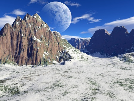 beautiful winter landscape photo