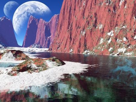 colorful fantasy coast Stock Photo - 8711918