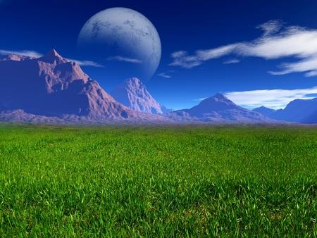 sea grass: colorful fantasy landscape