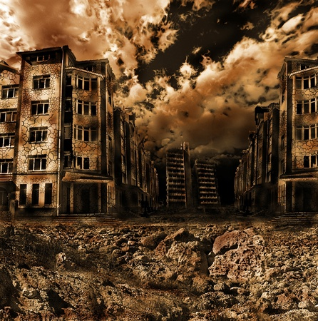 bombs: apocalyptic landscape