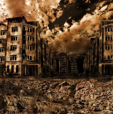 guerra: paisaje apocal�ptico