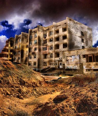 home destruction: apocalyptic landscape