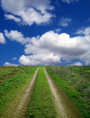 horison: road Stock Photo