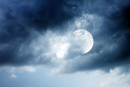 lightnings: beautiful moon Stock Photo