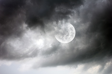 beautiful moon Stock Photo