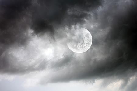 beautiful moon Stock Photo