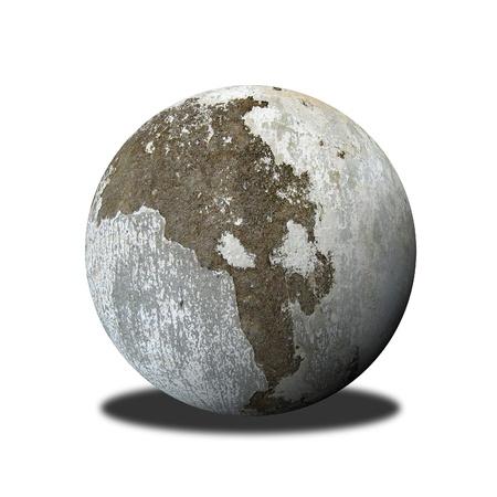 stone bowl: stone ball Stock Photo