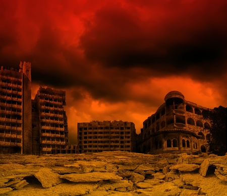 home destruction: apocalyptic landscape