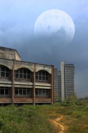Grim landscape photo