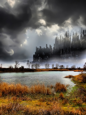 convulsión: Mundos fantásticos Foto de archivo