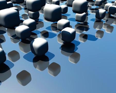 refreshed: cube Stock Photo