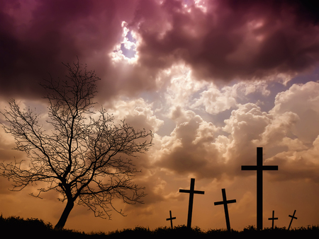 lugubrious: cemetery Stock Photo