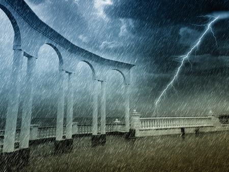 obscurity: rain Stock Photo