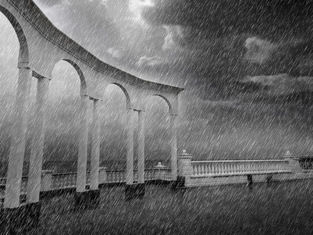 duskiness: rain Stock Photo