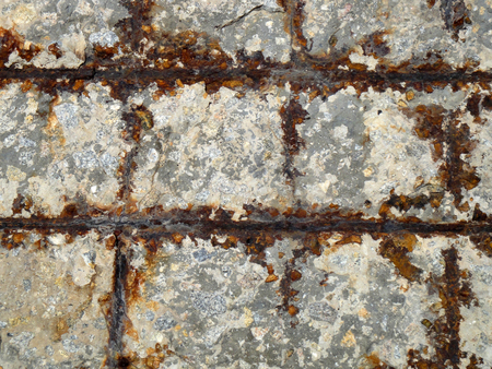 pitting: The surface of rusty metal
