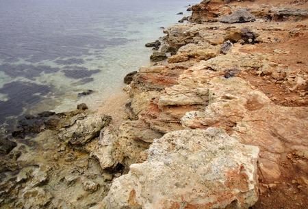 pellucid: Clear water sea coast Stock Photo