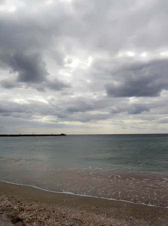 duskiness: sea Stock Photo