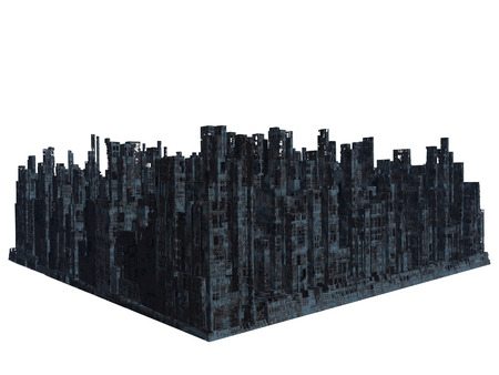 lugubrious: Ruins of the city, 3D render