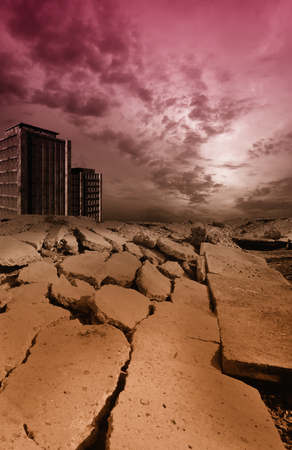 Earthquake, 3D rendering Stock Photo