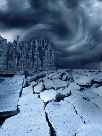 Earthquake, 3D rendering Stok Fotoğraf