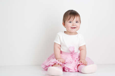 child portrait on white background Stock Photo - 13369649