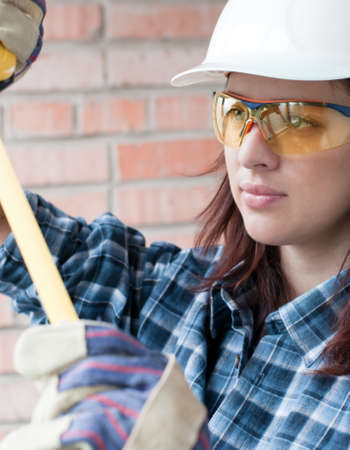 Home repair woman with tools Stock Photo - 13369951