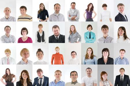 grupo de personas: collage de red social con un montón de gente