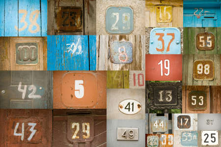 old numbers background Stock Photo - 13356254