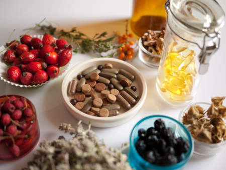 plant drug: alternative medicine and herbs Stock Photo