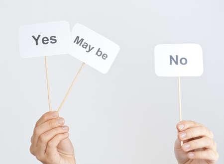 möglicherweise: ja, nein, vielleicht Wahl-Konzept