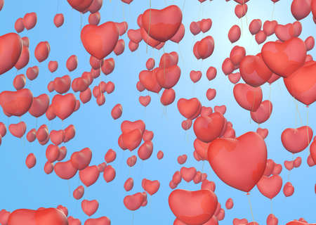 heart balloon background Stock Photo - 17905219