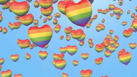 gay pride rainbow: gay pride balloons with rainbow