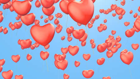 valentines background with heart balloons photo