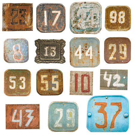 old numbers isolated Stock Photo - 17905254