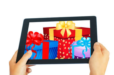 internet shopping with tablet pc photo