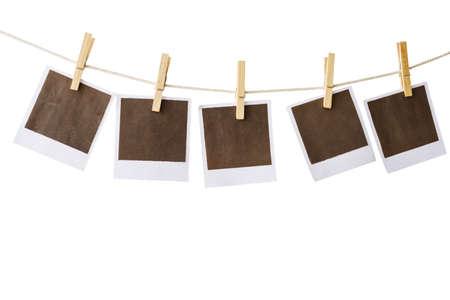 white polaroids: polaroids on white background