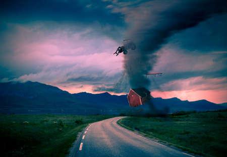 closer: tornado getting closer picture concept