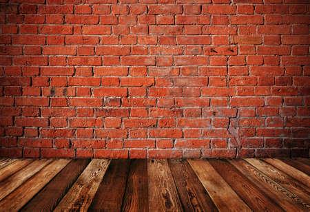 red brick wall: Wall of bricks background Stock Photo