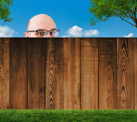pasture fence: neighborhood Stock Photo