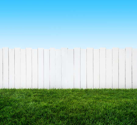 witte tuinhek