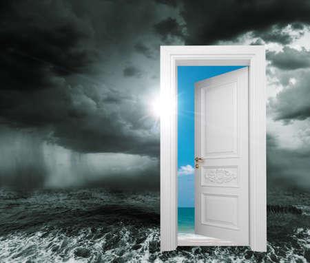door from bad conditions