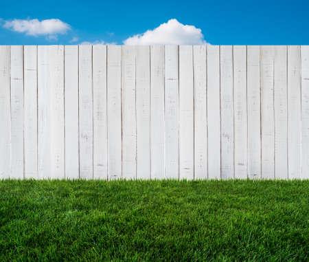white garden fence photo