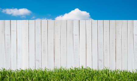 white garden fence