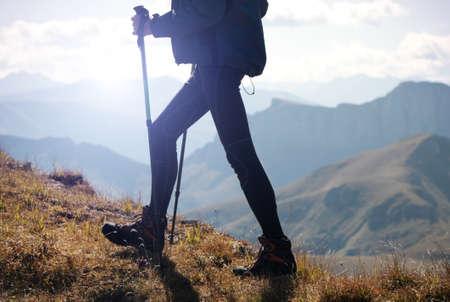 man hiking Archivio Fotografico