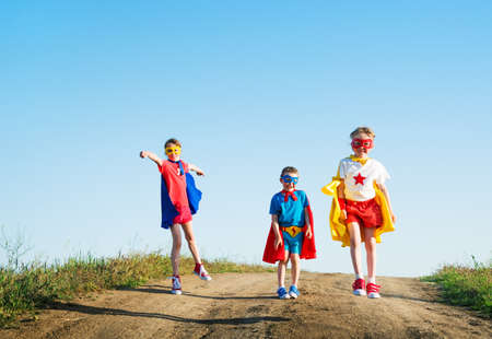 children acting: children  acting like a super hero