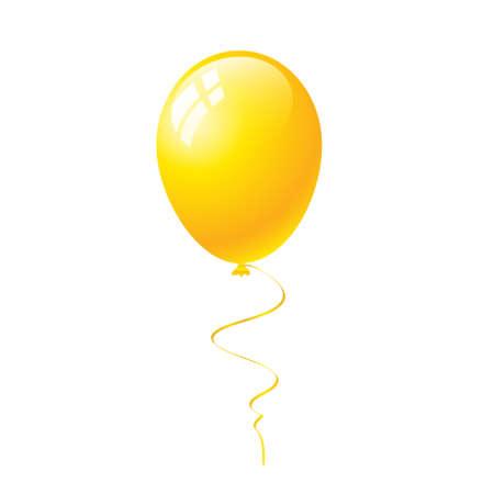 balloon vector: yellow balloon vector