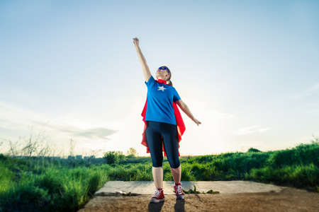 super hero woman standing