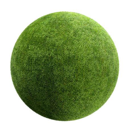 gras bal geïsoleerd